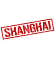 shanghai red square stamp vector image vector image