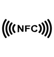 sign symbol nfc near field communication vector image vector image