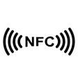 sign symbol nfc near field communication vector image