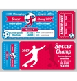 Soccer football sports ticket card retro vector image vector image