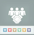 social agreed icon vector image vector image