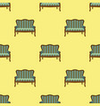 sofa doodle seamless pattern on yellow background vector image