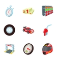 Speed cars icons set cartoon style vector image vector image