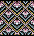 striped embroidery seamless pattern grunge vector image
