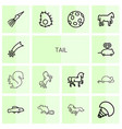 tail icons vector image vector image