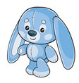 toy hare stands and waits for someone to play vector image vector image