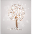vintage abstract tree drawing vector image vector image