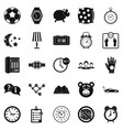 watch icons set simple style vector image vector image