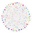 waving flag fireworks globula vector image vector image