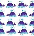 whale on a white background vector image vector image