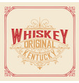 Whiskey card with vintage frame