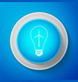 white light bulb with a wind turbines icon vector image vector image