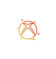 xbox icon design vector image