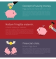 Set of Piggy bank vector image