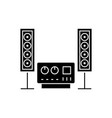 stereo sound hi-fi system icon vector image