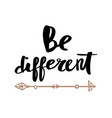 be different lettering for poster vector image