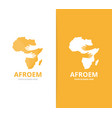 africa and hands logo combination safari vector image