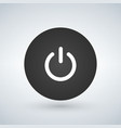 abstract power button for websites ui or vector image