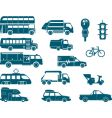 all types city transport vector image vector image