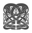 ancient celtic mythological symbol hounds dogs vector image vector image