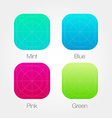 App Icon Template Set with Guidelines Fresh Colour vector image vector image