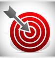arrow hitting target vector image