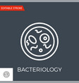 bacteriology icon vector image
