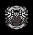 biker logo design vector image vector image