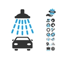 Car Shower Icon With Tools Bonus vector image vector image