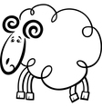 Cartoon ram for coloring book vector image