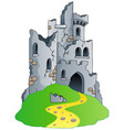 castle ruins on hill vector image