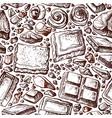 chocolate seamless pattern art background vector image