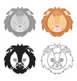 circus lion icon in cartoon style isolated on vector image vector image
