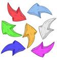 colored arrows hand drawn sketch vector image vector image