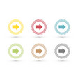 colorful arrows in dotted circle icon set vector image vector image