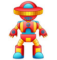 colorful toy robot cartoon isolated on white backg vector image vector image