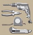 construction repair tools icons set isolated vector image