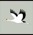 crane bird flat vector image