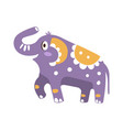 cute cartoon elephant character posing vector image vector image
