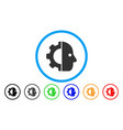 cyborg gear rounded icon vector image