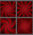 Dark red spiral ray and starburst background set vector image vector image