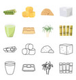 design industry and sugarcane symbol vector image vector image