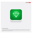 diamond icon green web button vector image