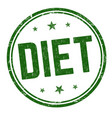 diet sign or stamp vector image vector image