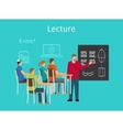 Education concept learning and lectures icon vector image