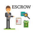 escrow place storage vector image vector image