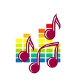 Festival or party icon with music notes vector image vector image