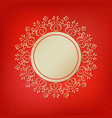 festive template snowflake frame for new year vector image