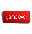 game over red paper sign on white background vector image vector image