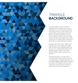 Geometric blue background with tirangles vector image